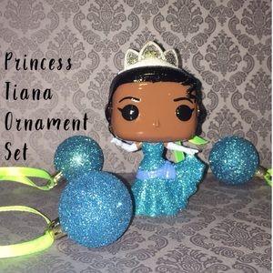 Princess Tiana Pop Vinyl Ornament Set